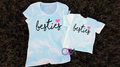 Besties Shirts Best Friends Shirts Matching Mom by 1OneCraftyMomma