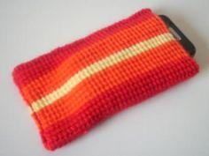 Handytasche (orange/rot)