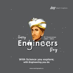 With Science you explore; with Engineering you do Happy Engineer's Day. Happy M, Funny Happy, Engineers Day Quotes, Navratri Wishes, National Days, Day Wishes, Nature Decor, Paper Decorations, Happy Quotes