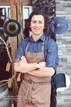 Our Detroit Denim Shirts are Chef Troy Rhoades-Brown's favourite Chef Works Item. Trendy, light and Professional. They are the ones to look for when deciding on your staff uniform.