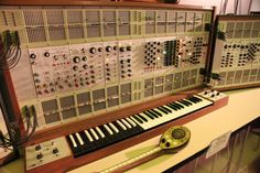 """1970 - ARP 2500 was the first modular synthesizer from the one year old company inspired by Moog. The synth was quite advanced with VCO, VCA, Filter, LFO and Arpeg/Seq modules that are routed by a 10x10 matrix switch system instead of the usual patch cables. Designed Electronics Engineer by Alan R. Pearlman [ARP] the 2500 was capable of superb sounds but was not very easy to use and understand. ARP would improve on this with the popular 2600 one year later."""""""