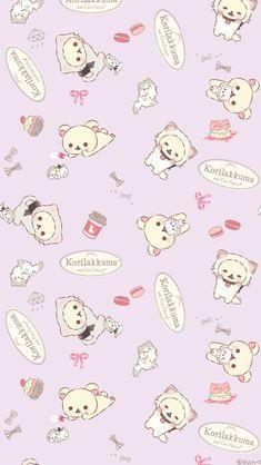 More Wallpaper, Kawaii Wallpaper, Tumblr Wallpaper, Pattern Wallpaper, Iphone Wallpaper, Rilakkuma, Sanrio Characters, Cute Characters, Kawaii Cute