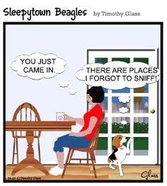 Sleepytown beagles Cartoon