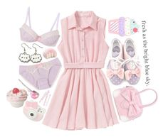 """""""~ fresh as the bright blue sky ~"""" by miyu-san ❤ liked on Polyvore featuring Hello Kitty, BOBBY, cute, Pink, purple and kawaii"""