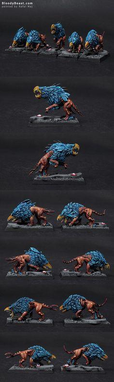 Chaos Warhounds of Tzeentch Closeups