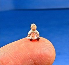 Teeny Tiny Doll for your Dollhouse Doll in miniature