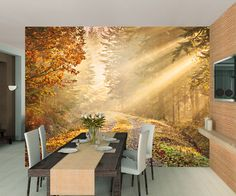 FOREST WALKWAY WALL MURAL Part 95