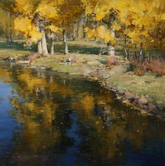 "Josh Elliott ""Floating gold"" 20x20"
