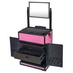Hair Train Case professional   Home TRAIN CASES REBEL Series Pro Makeup Artists Rolling Train Case ...