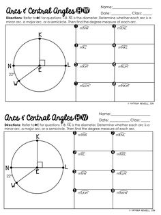 Angle circles math central angles and arcs in circles graphic organizer angle properties of circles mathematics . Geometry Lessons, Teaching Geometry, Geometry Worksheets, Math Lessons, Teaching Math, Teaching Ideas, Math Tutor, Math Teacher, Math Classroom