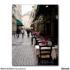 Bistro in Paris 2 Postcard