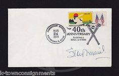 STAN MUSIAL ST LOUIS CARDINALS BASEBALL PLAYER AUTOGRAPH SIGNED HoF MAIL COVER