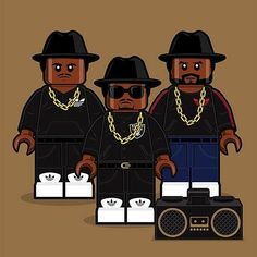 Lego Run-DMC...cuz it's like that and that's the way it is. #hiphop #lego #mashup