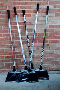 Hockey Stick Broom by HockeyStickStuff on Etsy. Deke dat housework!