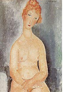 Amedeo Modigliani - pintor y escultor italiano, Seated Nude. Amedeo Modigliani, Modigliani Artwork, Italian Painters, Italian Artist, Georgia O'keeffe, Oil Canvas, Rembrandt, Matisse, Online Art