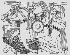 Pressblech from the Sutton Hoo helm. Anglo Saxon History, European History, Ancient History, American History, Anglo Saxon Tattoo, Viking Age Art, Anglo Saxon Clothing, Gripping Beast, Viking Knotwork