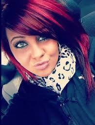 coloration cheveux rouge et noir recherche google - Coloration Violet Sur Cheveux Noir