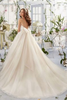 Courtesy of Morilee Wedding Dresses By Madeline Gardner Blu Collection; Wedding dress idea.
