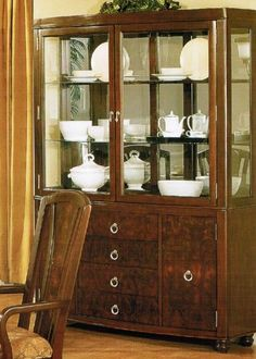 Coaster Meadowbrook Buffet and Hutch China Cabinet in Warm Medium ...