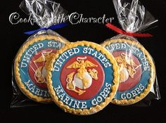 USMC - Cookies With Character.   Looks like they're above my skill level!!