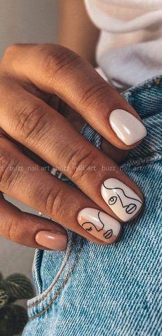 Nail Color Trends, New Nail Trends, Nail Colors, Subtle Nails, Funky Nails, Blue Nails, May Nails, Hair And Nails, Nail Art Pastel