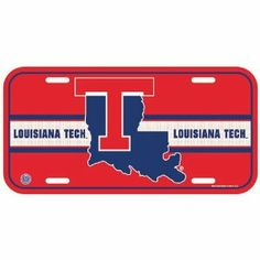 """Louisiana Tech University License plates by NCAA. $3.74. Designs may vary as manufacturer issues new designs regularly. Officially licensed 6""""x12"""" License Plates made of durable plastic. The plate is a great souvenir decorator piece. Made in USA."""