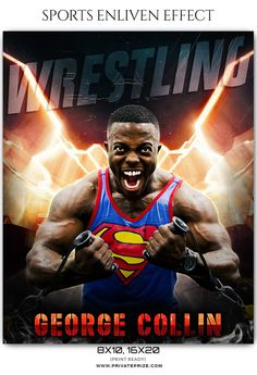 George Collin - Wrestling Sports Enliven Effects Photography Template