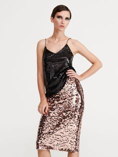 Cekinowa spódnica, RESERVED, XK964-GLD Sequin Skirt, Sequins, Formal Dresses, Skirts, Fashion, Dresses For Formal, Moda, La Mode, Skirt