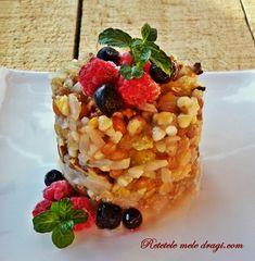 Mic dejun cu cereale asortate Oatmeal, Vegan, Breakfast, Food, The Oatmeal, Morning Coffee, Rolled Oats, Eten, Meals