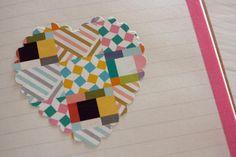 Washi Tape Valentines / San Valentín washi tape heart Dekorella Shop http://dekorellashop.hu/ #dekortapasz