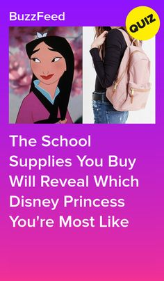 Go Shopping For School Supplies And We'll Reveal Which Disney Princess You Are