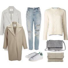 """Fall 2014 - Stan Smith + wool coat"" by ritag2014 on Polyvore"