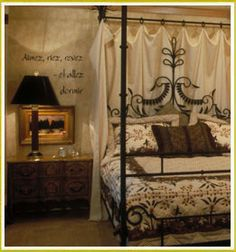 Decorate a themed bedroom with a monogram on your bed