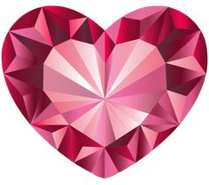 """Pink, Crystal Heart, Vector done in via Illustrator. Created it as practice using tools in the software. It's also a """"Free to Use but Credit Back"""" Resource. Gem Tattoo, Origami, Diamond Tattoos, Jewelry Design Drawing, Heart Illustration, Elephant Tattoos, Diamond Art, Heart Art, Painted Rocks"""