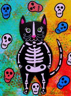 Cat Dia De Los Muertos