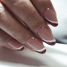 150 simple and cute natural acrylic coffin nails design - Nageldesign Frensh Nails, French Manicure Gel Nails, Chic Nails, Oval Nails, French Tip Nails, Classy Nails, Stylish Nails, Coffin Nails, Nail Polish