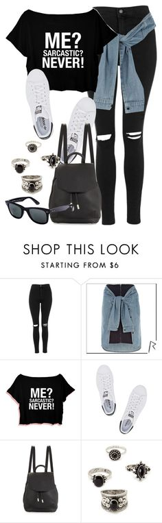 """Style #10209"" by vany-alvarado ❤ liked on Polyvore featuring Topshop, River Island, adidas Originals, rag & bone, Forever 21 and Ray-Ban"