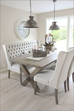 11 Contemporary Dining Room Furniture Ideas For Home Decor Farmhouse Dining Room Table, Dining Room Table Decor, Dining Room Lighting, Dining Room Design, Table Furniture, Room Decor, Dining Rooms, Antique Furniture, Cheap Furniture