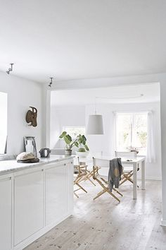 Pretty whitewashed floors.