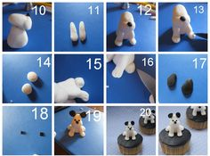 now we make puppy, little deffrent with my old puppy ....let's we try it.... how to make it: 1. make ball for the body 2. after ...