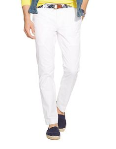 This handsome pant is crafted from lightweight stretch chino and features a slim fit, making it a versatile choice for dressier occasions.