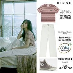 Korean Outfits, Converse Chuck, Brand Names, Stylists, Kpop, My Style, T Shirt, Clothes, Fashion