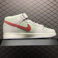 9b570658a99c Nike SB Dunk Mid White Widow Sail Gym Red Fresh Mint AQ2207-163-4