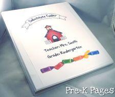 Substitute Folder for Preschool and Kindergarten