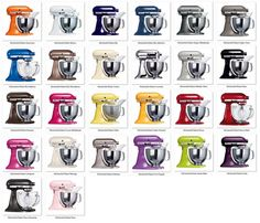 Going to have to get a purple one next time.kayden would freak! Not that I am hoping mine dies anytime soon! Kitchenaid Mixer Colors, Kitchenaid Stand Mixer, Toy Kitchen, Kitchen Aid Mixer, Kitchen Tools, Cool Kitchen Gadgets, Cool Kitchens, Sir Mix A Lot, Kitchenaid Artisan