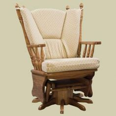 Redux Antique Glider Rocker   Heritage 4 Post Glider Rocker With Swivel.