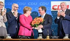 Merkel's Christian Democrats beat rivals in German state election.(May 15th 2017)