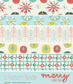 Merry Patterns - for commercial and personal use