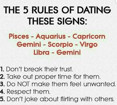 Dating for your sign