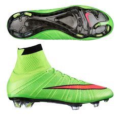 Nike Mercurial SuperFly IV Men's Soccer Cleats -Electric Green/ Volt/Black/Hyper Punch
